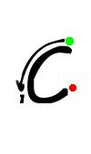 Pre-cursive c
