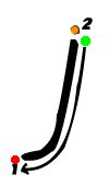 Pre-cursive j
