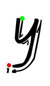 Pre-cursive y