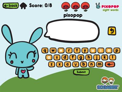 pixopop sight words