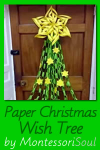 Paper Christmas Wish Tree