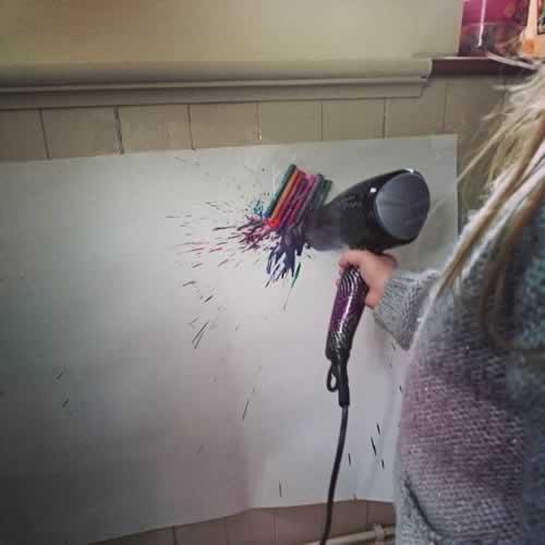 Melted Crayon Fireworks 8
