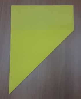 Craft paper star guide step 2
