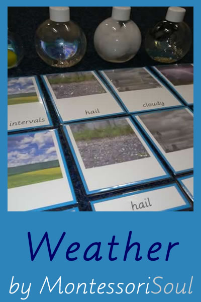 MontessoriSoul learning about weather