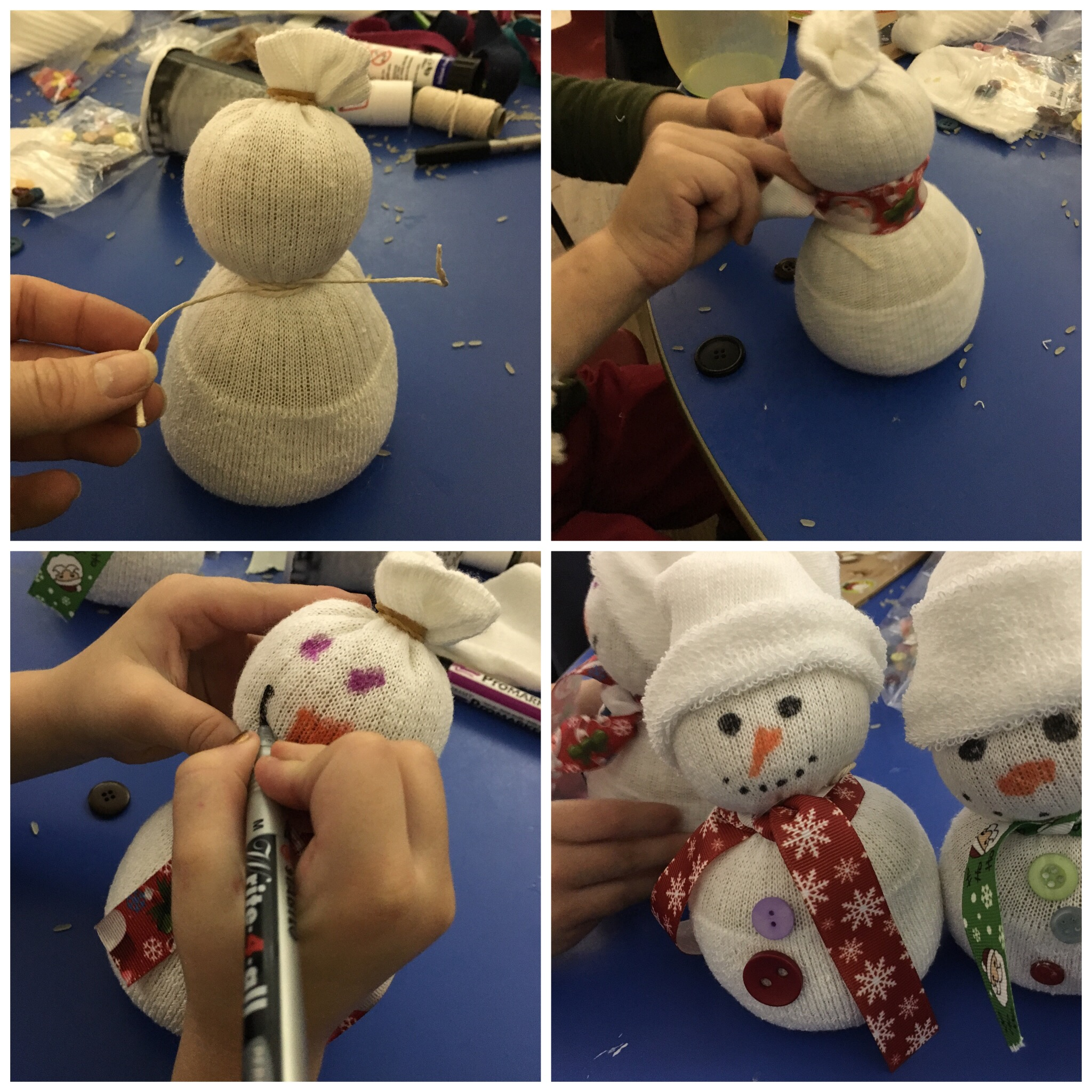 No sew sock snowmen simple tutorial
