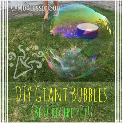 DIY Giant Bubble mixture