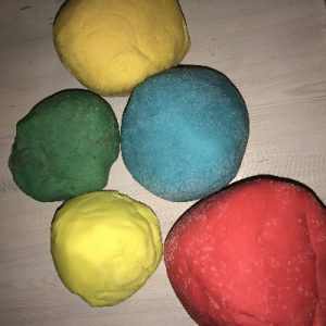 Quick no cook playdough