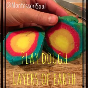 Playdough layers of the earth