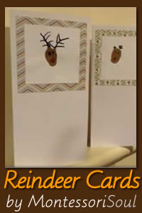 Embossed Reindeer Thumbprint cards